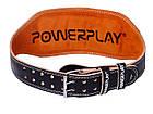 Пояс для важкої атлетики PowerPlay 5086 Чорно-Коричневий S, фото 5