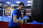 Боксерські рукавиці PowerPlay 3018 Чорно-Жовті 16 унцій, фото 7