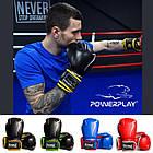 Боксерські рукавиці PowerPlay 3018 Чорно-Жовті 16 унцій, фото 10