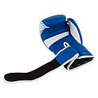 Боксерські рукавиці PowerPlay 3023 A Синьо-Білі [натуральна шкіра] 12 унцій, фото 5