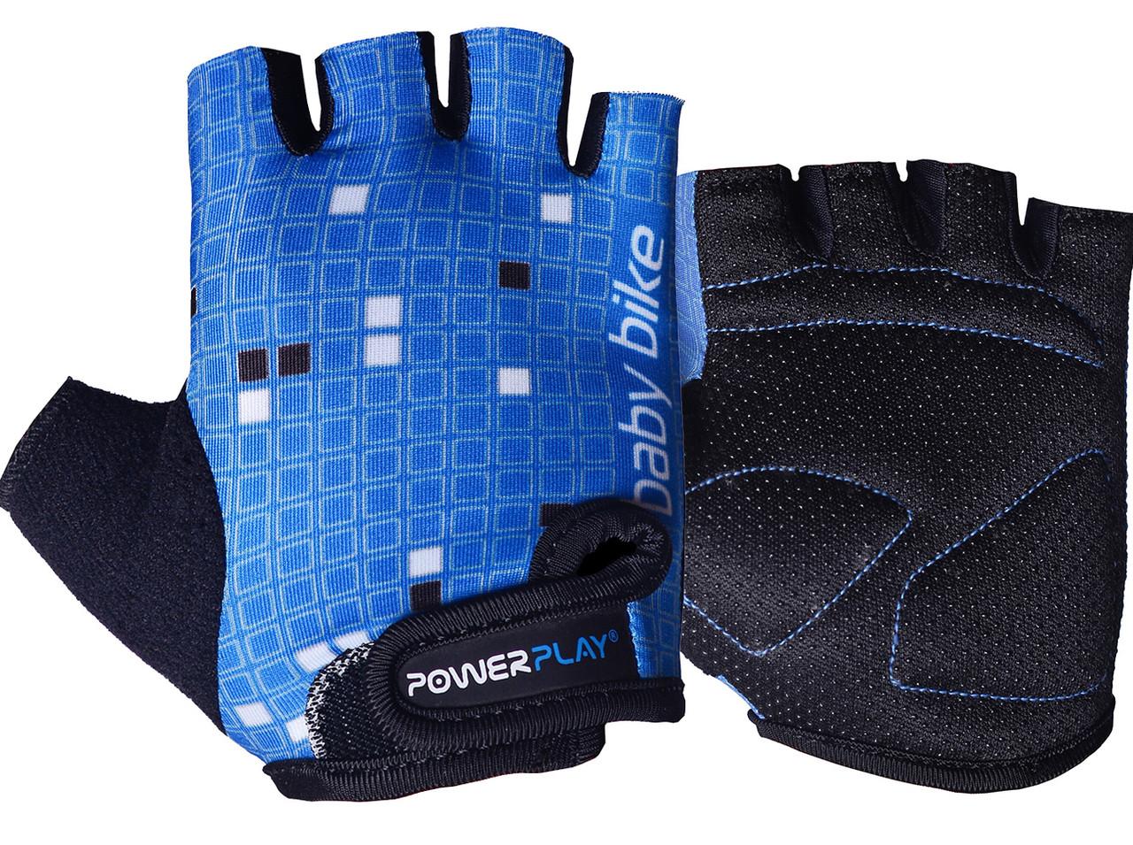 Велорукавички PowerPlay 5451 Синьо-білі 2XS