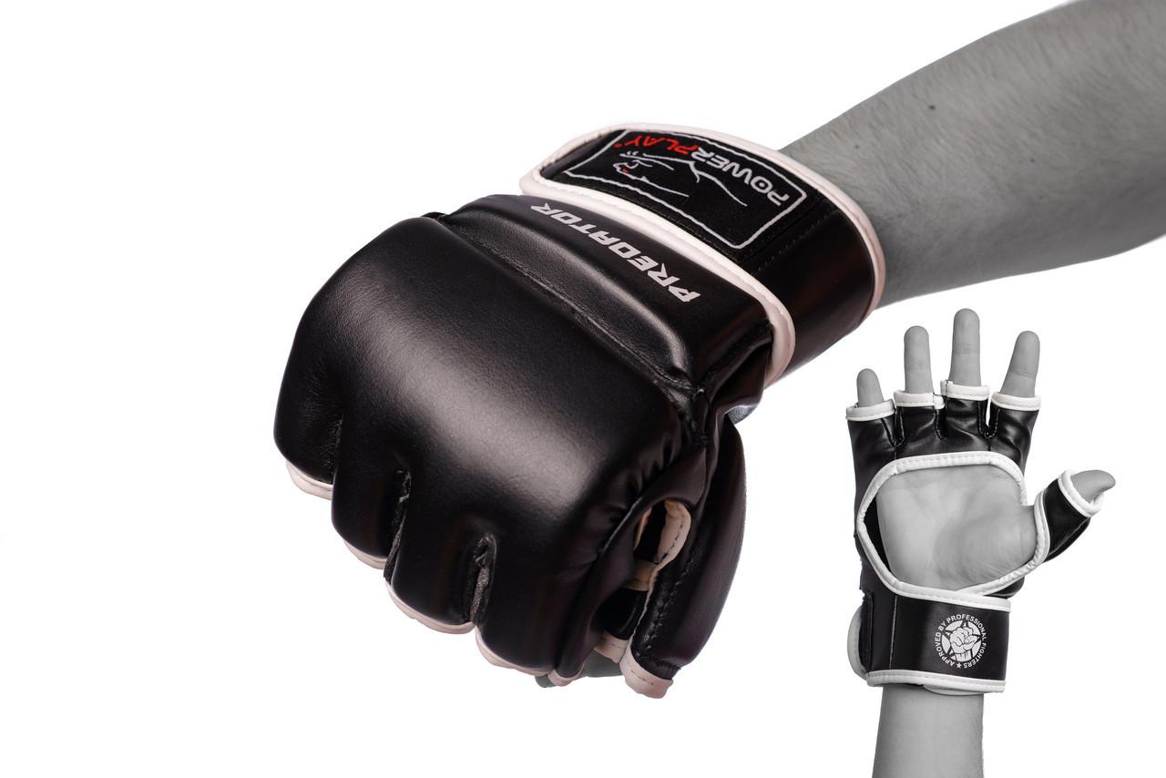Рукавички для MMA PowerPlay 3056 Чорні M