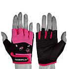 Рукавички для фітнесу PowerPlay 3492 Чорно-Розові M, фото 2