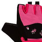 Рукавички для фітнесу PowerPlay 3492 Чорно-Розові M, фото 3