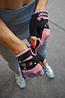 Рукавички для фітнесу PowerPlay 3492 Чорно-Розові M, фото 9