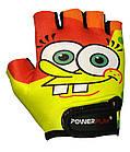 Велорукавички PowerPlay 5473 Жовто-помаранчеві XS, фото 2