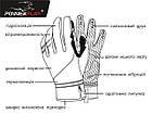 Рукавички для бігу PowerPlay 6607 Чорно-Червоні XXL, фото 7