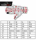 Велорукавички PowerPlay 6662 В Чорно-Червоні S, фото 8