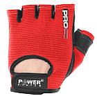 Перчатки для фитнеса и тяжелой атлетики Power System Pro Grip PS-2250 S Red, фото 3