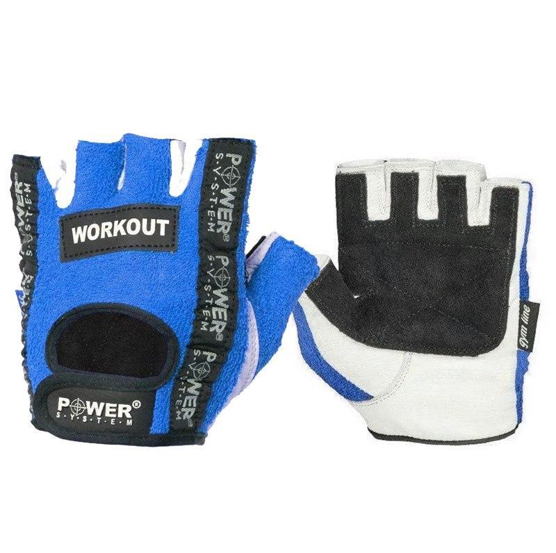 Перчатки для фитнеса и тяжелой атлетики Power System Workout PS-2200 S Blue