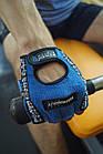 Перчатки для фитнеса и тяжелой атлетики Power System Workout PS-2200 S Blue, фото 7