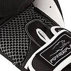 Боксерські рукавиці PowerPlay 3011 Чорно-Білі карбон 16 унцій, фото 3