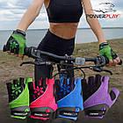 Велорукавички PowerPlay 5281 Рожеві XS, фото 8