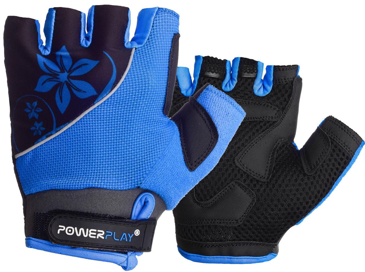 Велорукавички PowerPlay 5281 B Блакитні S