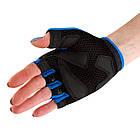 Велорукавички PowerPlay 5281 B Блакитні S, фото 5