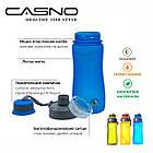 Пляшка для води CASNO 600 мл KXN-1116 Помаранчева, фото 8