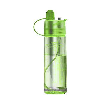 Пляшка для води CASNO 420 мл KXN-1151 Зелена з соломинкою