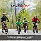 Велорукавички PowerPlay 5041 B Чорно-блакитні XS, фото 6