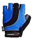 Велорукавички PowerPlay 5037 A Чорно-блакитні XS, фото 2