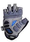 Велорукавички PowerPlay 5037 A Чорно-блакитні XS, фото 3