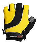 Велорукавички PowerPlay 5037 C Чорно-жовті XL, фото 2