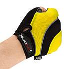 Велорукавички PowerPlay 5037 C Чорно-жовті XL, фото 5