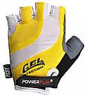 Велорукавички PowerPlay 5034 B Біло-жовті L, фото 2