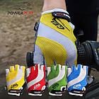 Велорукавички PowerPlay 5034 B Біло-жовті L, фото 10