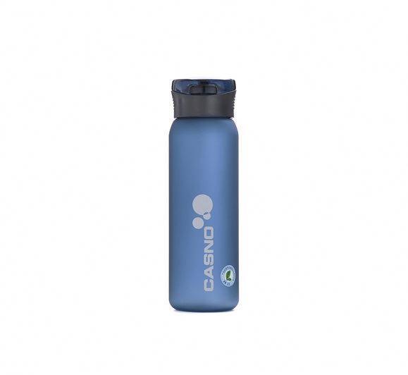 Пляшка для води CASNO 600 мл KXN-1196 Синя з соломинкою