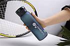 Пляшка для води CASNO 600 мл KXN-1196 Синя з соломинкою, фото 2