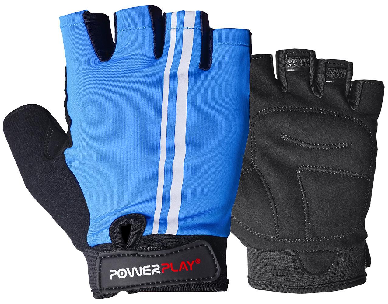 Велорукавички PowerPlay 5031 A Блакитні XL