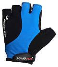 Велорукавички PowerPlay 5028 C Чорно-блакитні M, фото 2