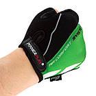 Велорукавички PowerPlay 5024 B Чорно-зелені XS, фото 4