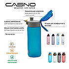 Пляшка для води CASNO 550 мл KXN-1215 Блакитна, фото 8
