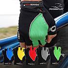Велорукавички PowerPlay 5019 A Чорно-зелені L, фото 9
