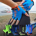 Велорукавички PowerPlay 5029 G Блакитні XL, фото 8