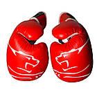 Боксерські рукавиці PowerPlay 3018 Червоні 10 унцій, фото 4