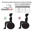 М'яч для фітнесу PowerPlay 4003 65см Сірий, фото 6