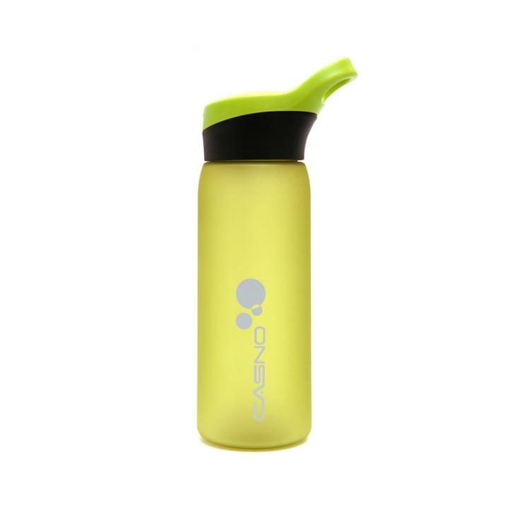 Пляшка для води CASNO 750 мл KXN-1210 Зелена з соломинкою