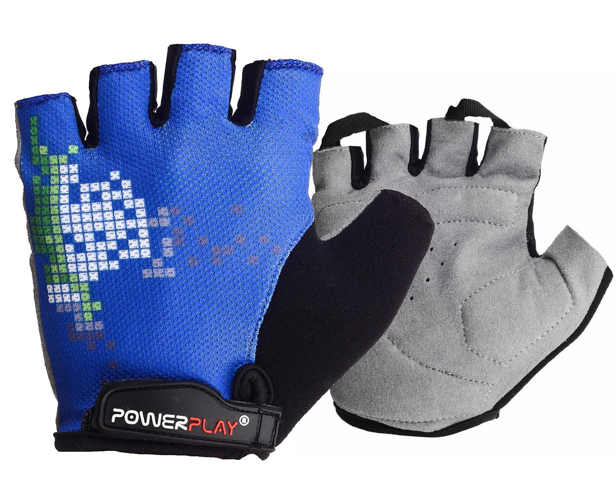Велорукавички PowerPlay 002 D Сині M