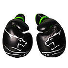 Боксерські рукавиці PowerPlay 3018 Чорно-Зелені 8 унцій, фото 4