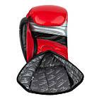 Боксерські рукавиці PowerPlay 3007 Червоні карбон 12 унцій, фото 3