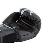 Боксерські рукавиці PowerPlay 3010 Чорно-Сірі 10 унцій, фото 5