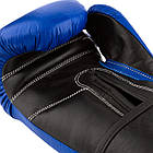 Боксерські рукавиці PowerPlay 3015 Сині [натуральна шкіра] 16 унцій, фото 4