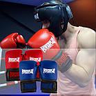 Боксерські рукавиці PowerPlay 3015 Сині [натуральна шкіра] 16 унцій, фото 9