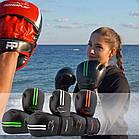 Боксерські рукавиці PowerPlay 3016 Чорно-Зелені 10 унцій, фото 9