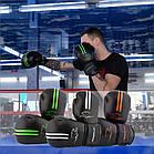 Боксерські рукавиці PowerPlay 3016 Чорно-Зелені 10 унцій, фото 10