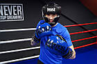 Боксерські рукавиці PowerPlay 3017 Сині карбон 14 унцій, фото 7
