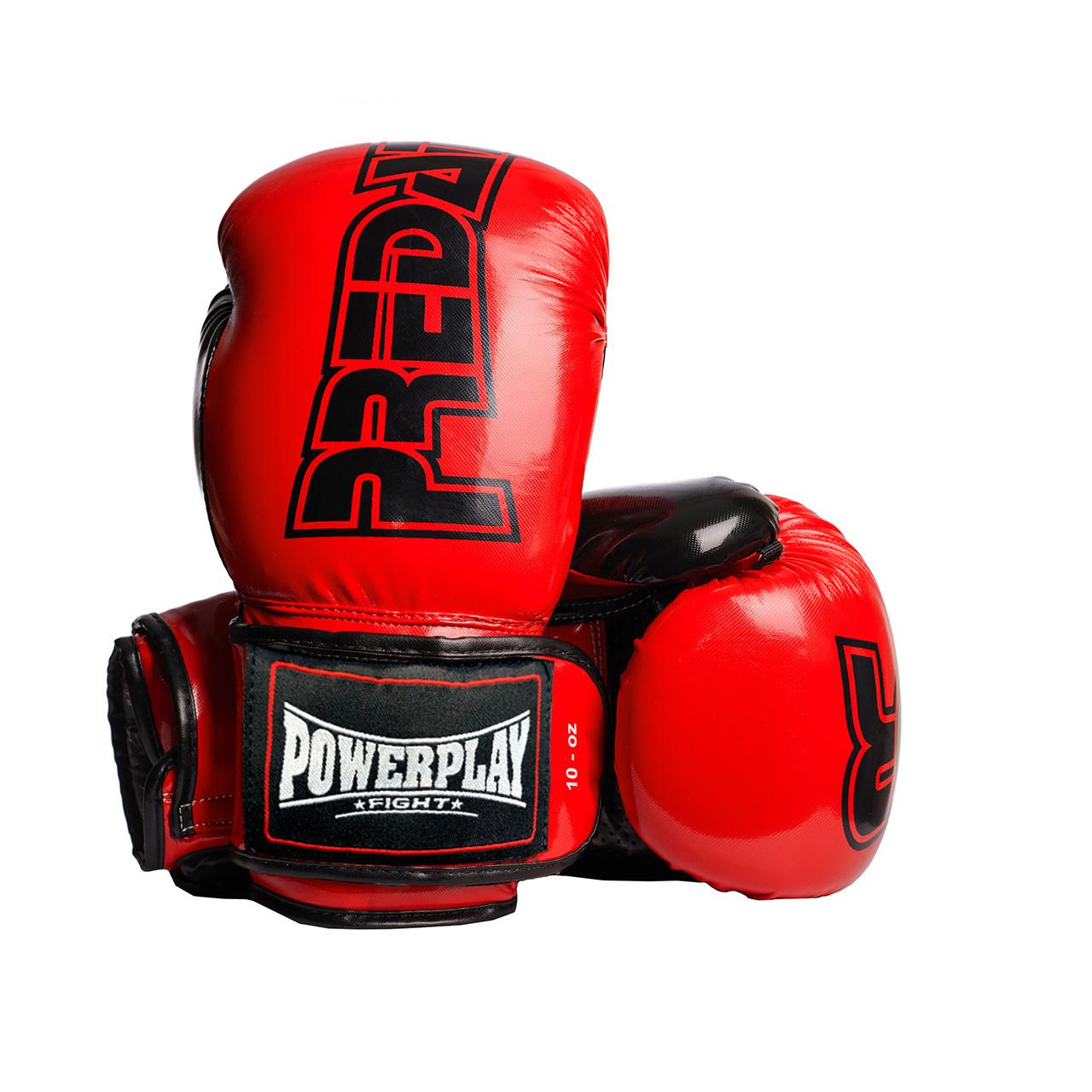 Боксерські рукавиці PowerPlay 3017 Червоні карбон 10 унцій