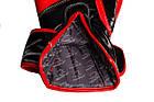 Боксерські рукавиці PowerPlay 3017 Чорні карбон 14 унцій, фото 3